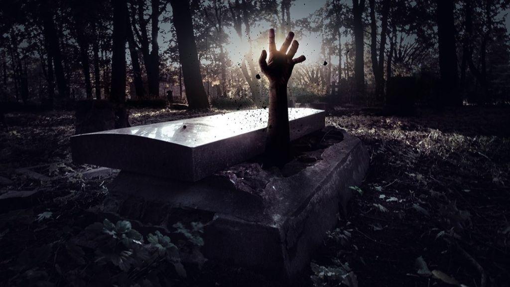 A theme park coffin challenge.