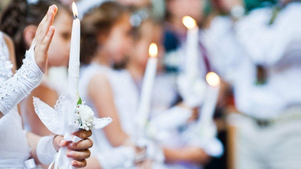 Holy communion in Ireland.