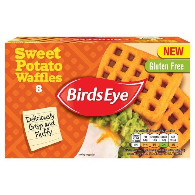 Birds Eye unveils its new potato-based creation: sweet potato waffles.