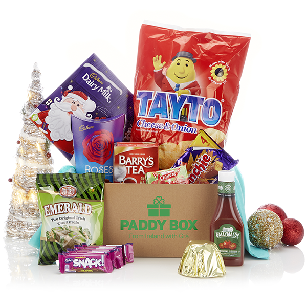 Everything you need to enjoy an authentic Irish Christmas can be found in this box.