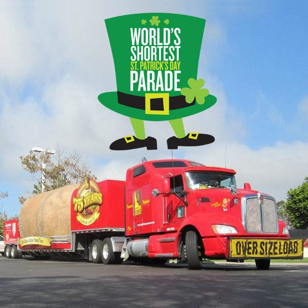 A 72-foot long potato has been added to the line-up for the world's shortest St. Patrick's Day parade.