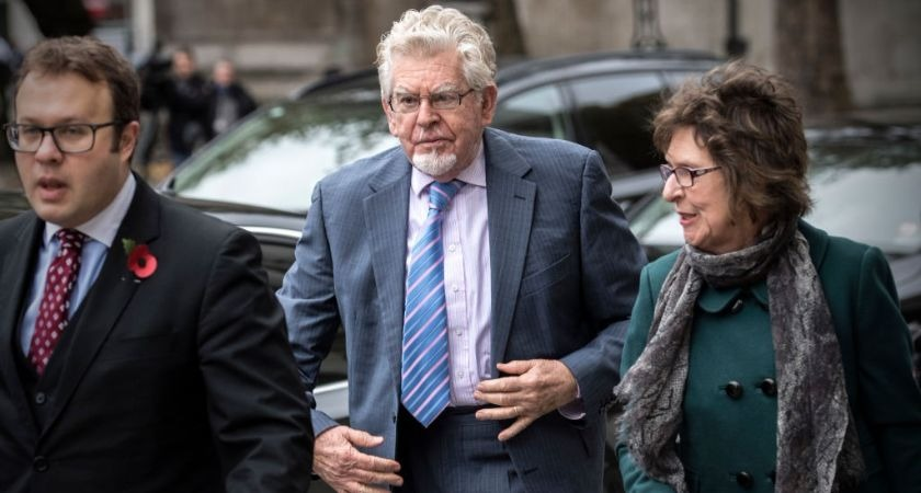 Child abuser Rolf Harris under investigation after walking onto primary school grounds.