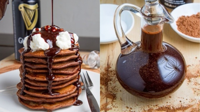 Make it a Pancake Day to remember with this Bacon Guinness Chocolate Pancakes recipe.