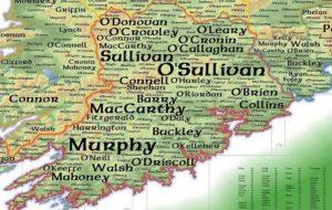 surnames across Ireland