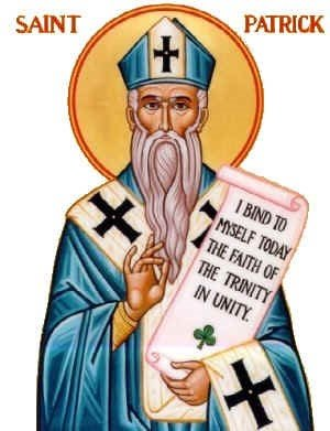 Image result for st patrick in blue