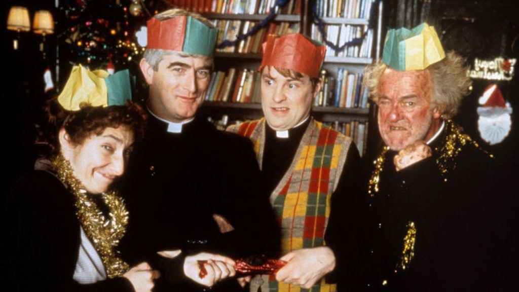 Father Ted festive episode voted among top 10 greatest sitcom Christmas specials ever.