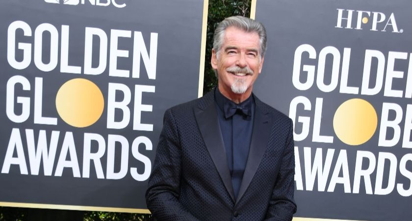 Pierce Brosnan's new look at Golden Globes sees him branded 'Sexy Colonel Sanders'.