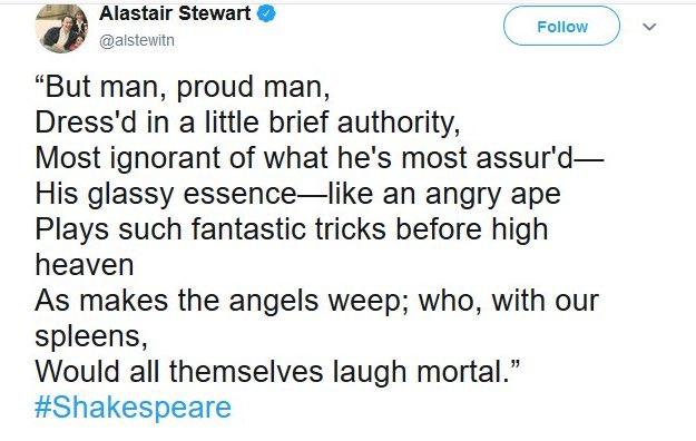 Alastair Stewart steps down as ITV newsreader