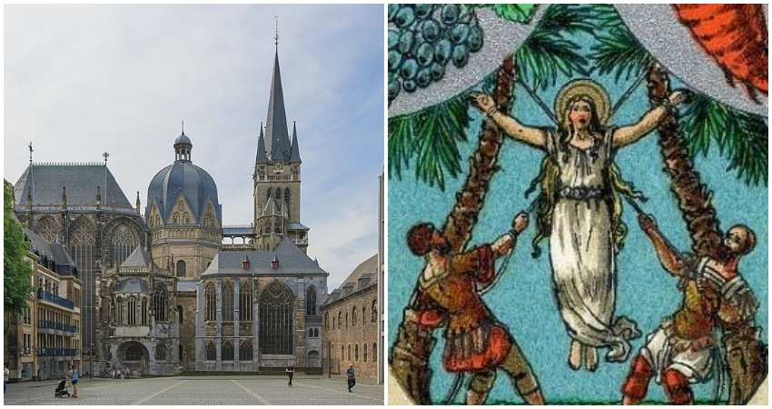 German cathedral displays relics of 'Patron Saint of Resisting Epidemics' ... incredibly named St CORONA