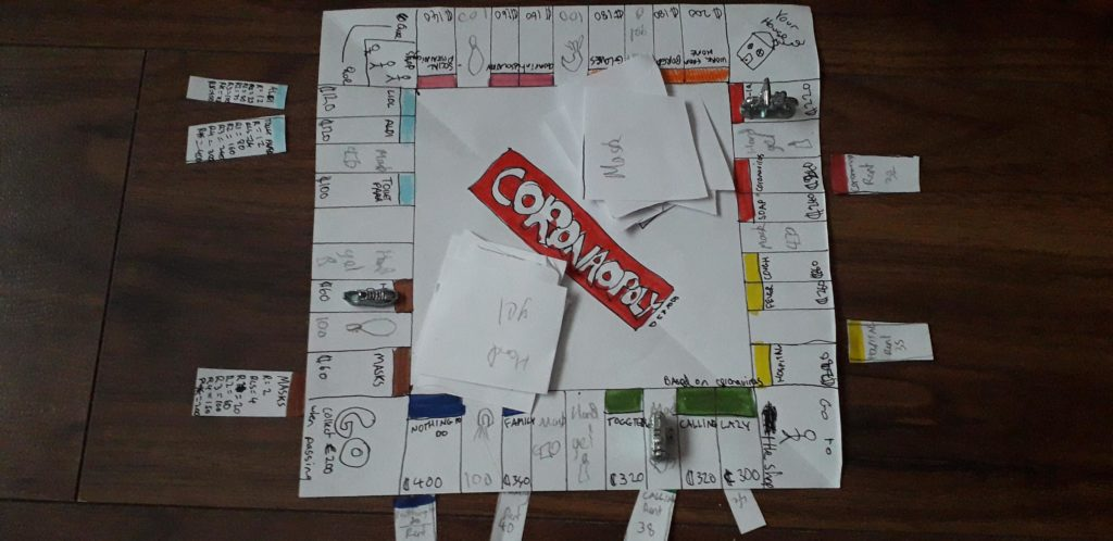 11-year-old Irish girl creates her own lockdown-themed Monopoly board – and it's brilliant.
