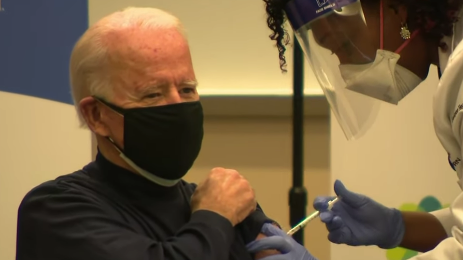 Biden Gets Second Coronavirus Vaccine Dose on Live TV