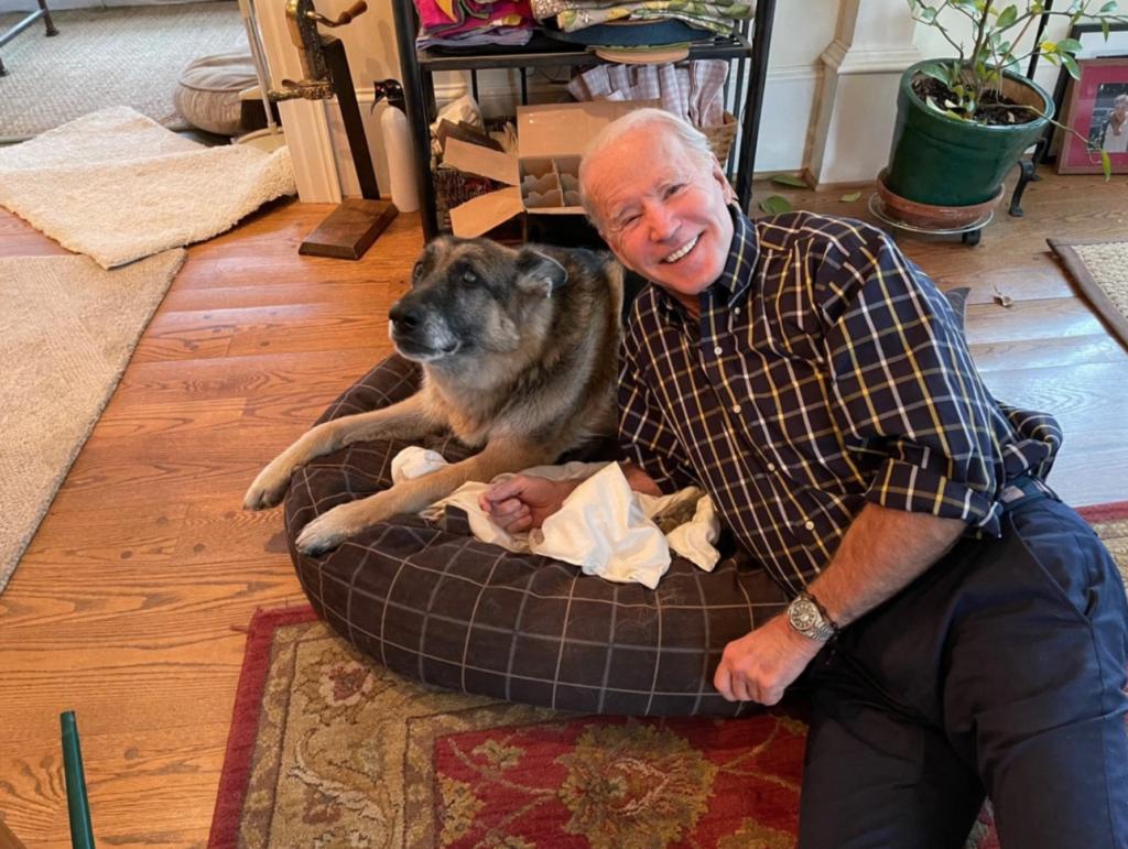 Joe Biden and his dog Champ