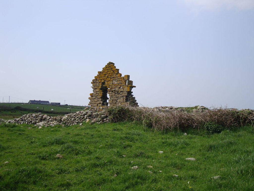 Sligo medieval church that once housed remnants of Spanish Armada perilously close to collapsing off cliff.