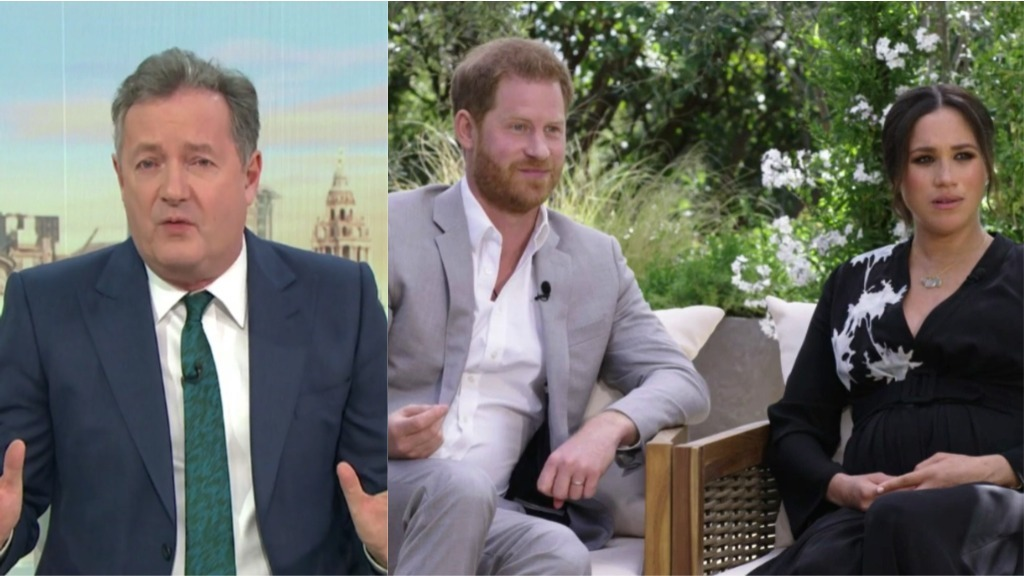 Piers Morgan doesn't believe Harry and Meghan's claims