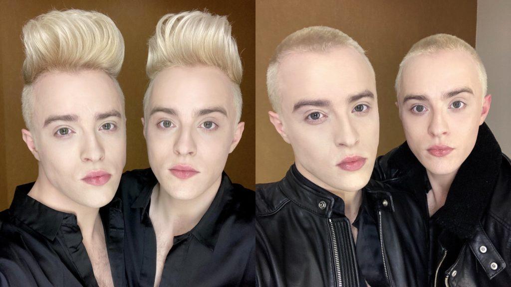 Jedward shave off their trademark hairstyles.