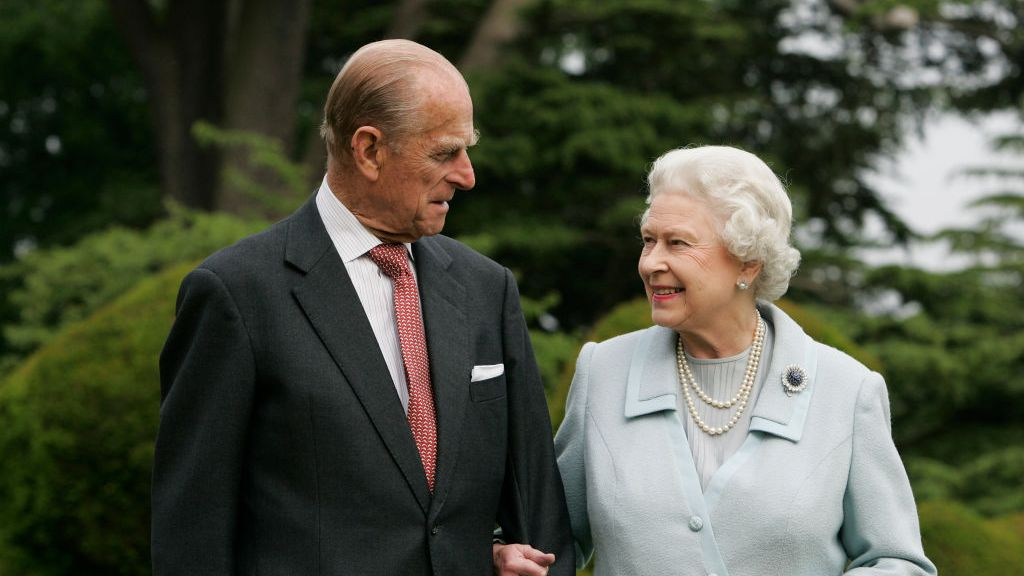 Prince Philip and the Queen.