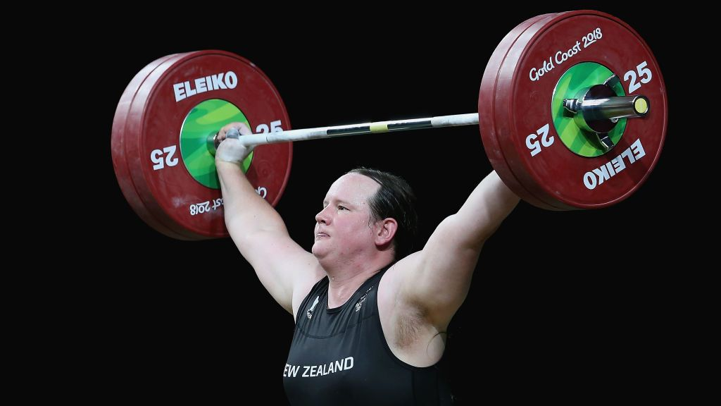 New Zealand weightlifter Laurel Hubbard.