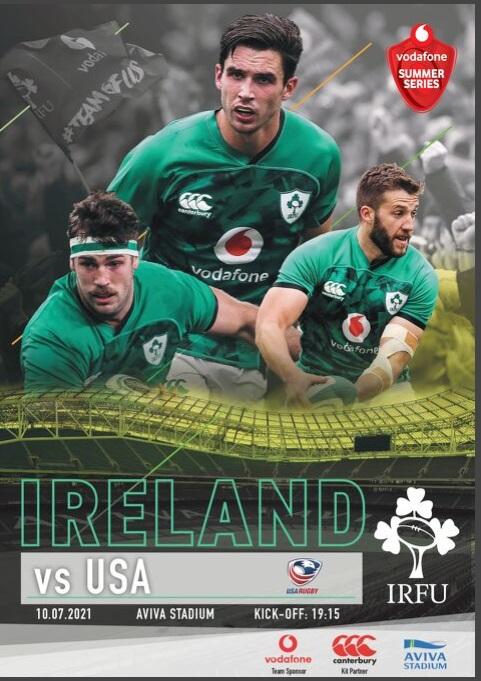 Ireland USA match Programme