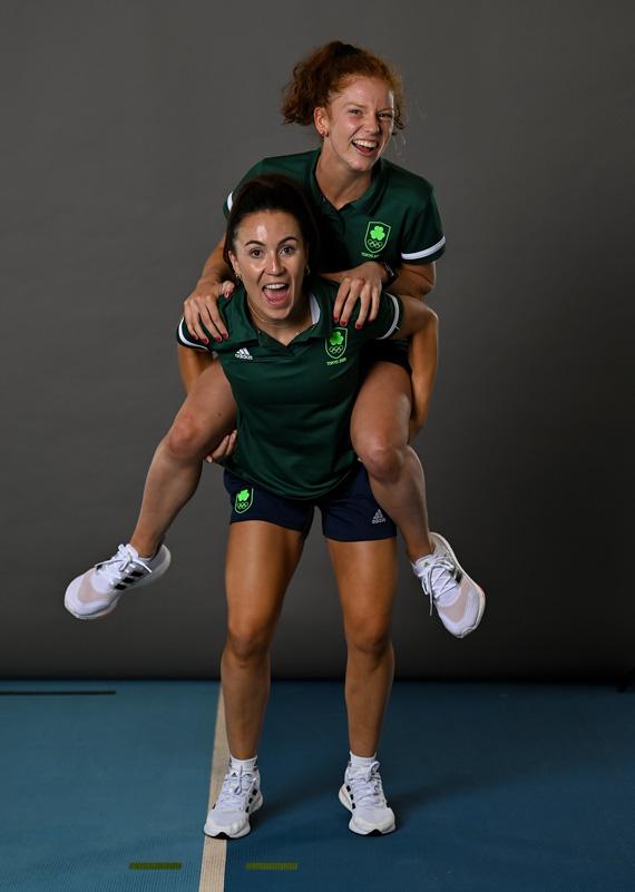 Sarah McAuley with Anna Flannagan