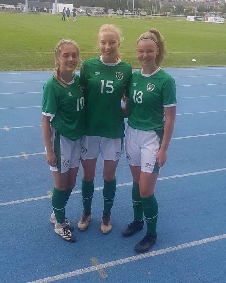 Cork City players with Ireland U17 v Northern Ireland