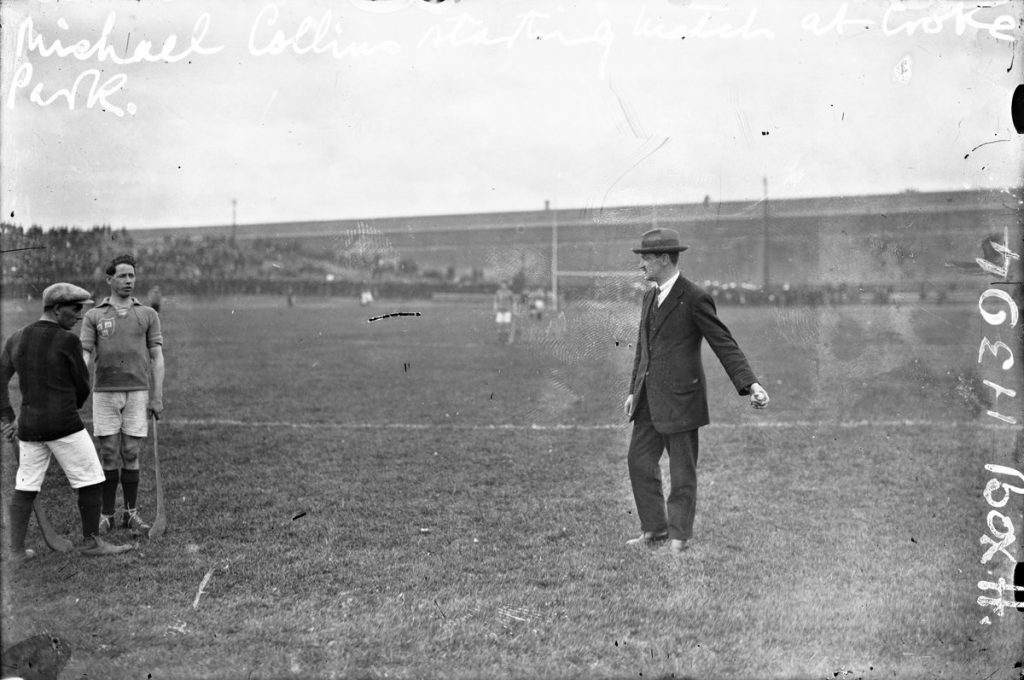 Michael Collins throws in the ball