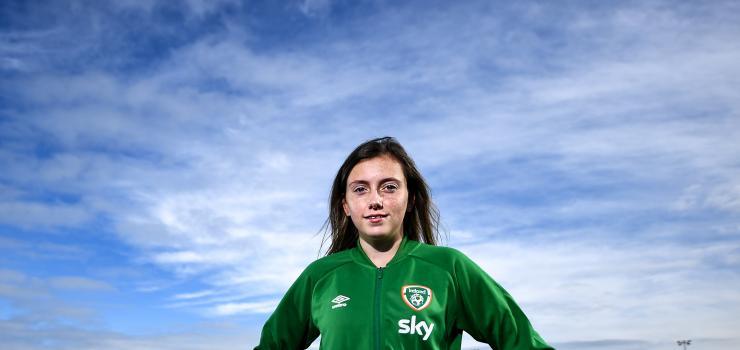 Republic of Ireland U17 captain Abbie Larkin